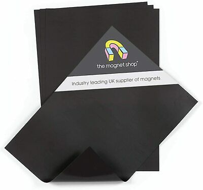 4 Plain A5 (0.75mm Thick) Magnetic Sheets for Crafts & Spellbinder Die Storage