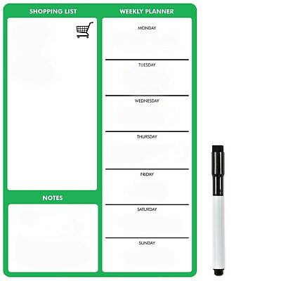 A4 Green Magnetic Weekly Meal Planner by The Magnet Shop®
