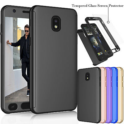 For Samsung Galaxy J7 Refine /J7 2018 Full Protective Case Cover +Tempered Glass