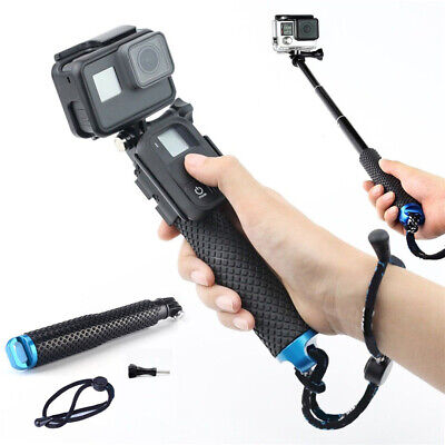 Waterproof Handheld Monopod Selfie Stick Pole Telescopic For GoPro Hero 6/5/4/3+
