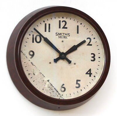 ENGLISH SMITHS 1960s Bakelite Vintage Retro Industrial Factory School Wall Clock