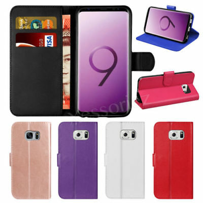 Luxury Genuine Real Leather Flip Case Wallet Cover For Samsung Galaxy J3 J5