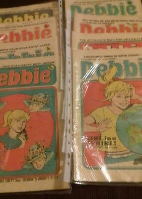 8 x Debbie comics May to September 1975