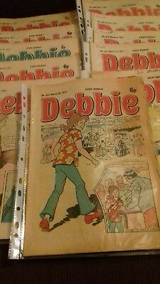 11 x Debbie comics January - March 1977