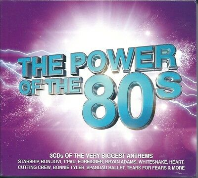 The Power of The 80s (2016) Box 3 CD NUOVO Bon Jovi Bryan Adams Tina Turner Cher