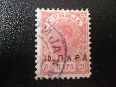 Stamps: Serbia - 1901 SG155 with type 9 o/print Good used