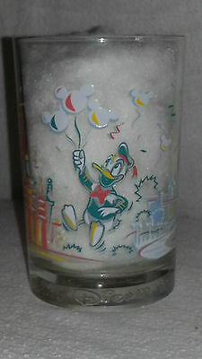 McDonalds 25 Years Remember The Magic Walt Disney Glass Featuring Donald Duck