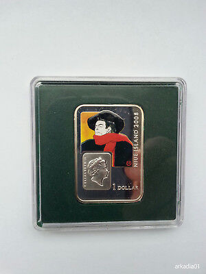 Toulouse-Lautrec Can-Can-Tänzerin Niue 2008 1$ Ag.925 .841oz 28,28g 40x28mm PP