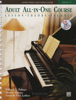 Adult All-In-One Course Level 3 Book/CD Alfred's Basic Piano Lesson Theory Tech