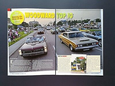 Woodward Dream Cruise Michigan - Original 6 Page Color Article - Free Shipping