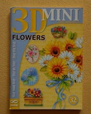 STUDIOLIGHT Mini 3D Buch * FLOWERS * 18 Motive * Nr. 32