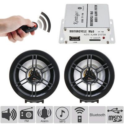 Waterproof Bluetooth Motorcycle Audio Radio FM Player Stereo Speakers System MP3
