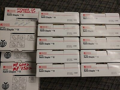 14 Genuine Ricoh Refill Staple Type H 410509 1101R-AM *5 Rolls of 5000 staples*