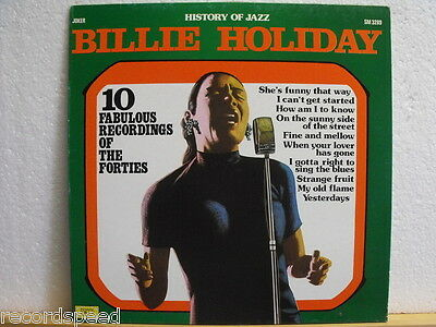 "★★ 12"" LP - BILLIE HOLIDAY - History Of Jazz - Joker SM 3289 / ITALY"