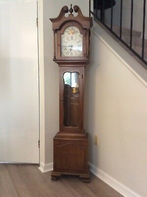 "Vintage  Colonial Mfg. Co. Zeeland MI Grandfather Clock 72"" Tall"