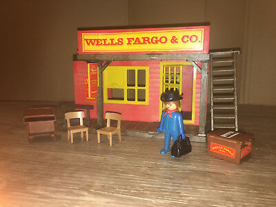 Playmobil 3431-A Wells-Fargo-Station von 1977