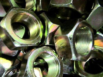 "1/4""-28 Finished Hex Nuts Fine Thread Yellow Zinc"