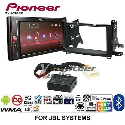 PIONEER MVH-200EX DOUBLE Din Car Stereo Radio Install Kit With