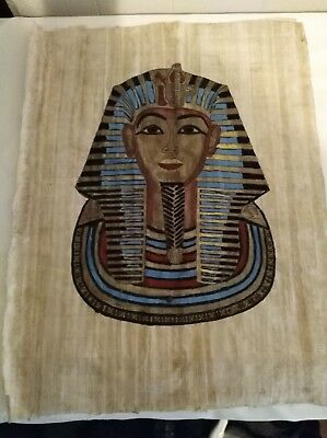 Pair of Vintage Beautifully Hand-Painted Egyptian Art on Papyrus