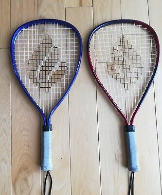 LOT 2 Used EKTELON RACQUETBALL RACQUETS Vectra and Sonata xsmall purple red