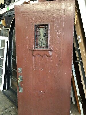"Old Spanish Front Door Right Swing 79 X 35-3/4"" Etched Detail Solid Wood"