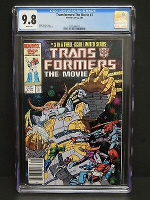 Marvel Comics Transformers: The Movie #3 1987 Cgc 9.8 White Pages Newsstand Upc