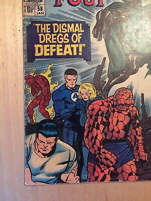 Fantastic Four 58 Jan 1966 The dismal dregs of defeat Marvel comics