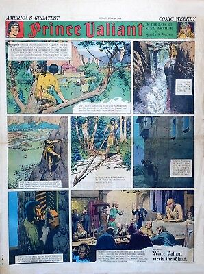 Prince Valiant by Hal Foster - large full page color Sunday comic, June 16, 1940
