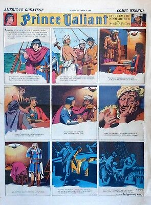 Prince Valiant by Hal Foster - large full page color Sunday comic, Dec. 22, 1940