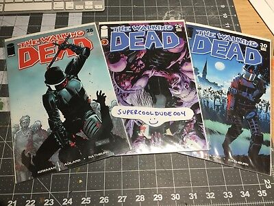 The Walking Dead Comic Lot #28, 29 and 30 Image Comics First Run