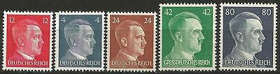 Germany (Third Reich) 1941-1944 MNH - Selection of 5 Hitler Definitives (Lot 2)