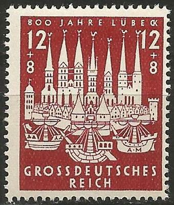 Germany (Third Reich) 1943 MNH - 800th Anniversary Founding (Hansestadt) Luebeck