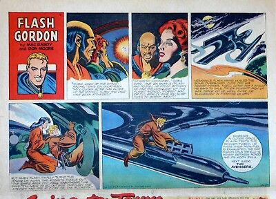 Flash Gordon by Mac Raboy - large half-page color Sunday comic - June 25, 1950