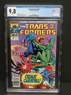 Marvel Comics Transformers #44 1988 Cgc 9.8 White Pages Newsstand Upc