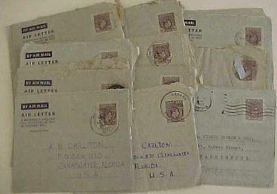 NIGERIA 25 AIR LETTERS  1950's MOSTLY TO USA
