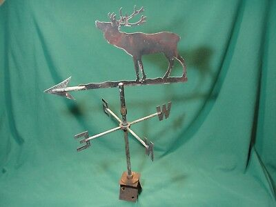 Vintage Weathered New England Copper Elk Weathervane