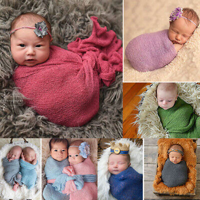 40*150cm Newborn Stretch Wrap Photography Nubble Wraps Props Baby Kids Cozy