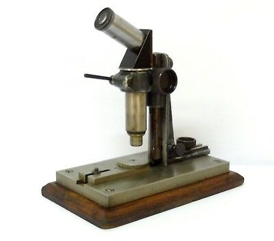 Extremely Rare Nachet Paris French Antique 1920 Thread Textil Microscope See