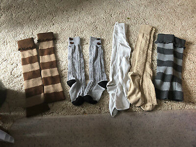 Lot of 5 Pairs of Leg Warmers from the Buckle Silver Glitter Multiple Colors