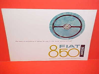 1968 Fiat 850 Sedan Showroom Sales Brochure Catalog 68
