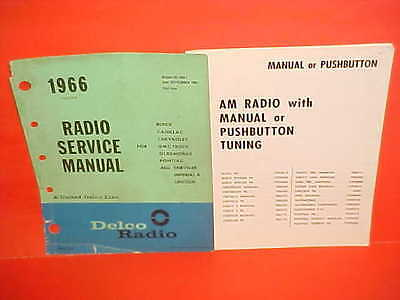 1966 Buick Gs Chevelle Nova Ss El Camino 442 Gto Delco Am Radio Service Manual