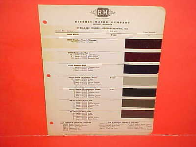 1939 Lincoln Zephyr Twelve V-12 Convertible Coupe Town Sedan Limo Paint Chips 39