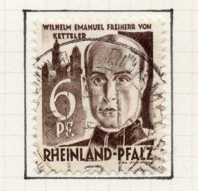 Germany Allied Occ France Zone 1948 Rhineland Issue Fine Used 6pf. 258884