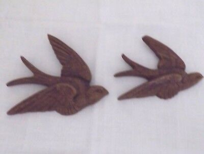 1983 Burwood Products Homeco Birds In Flight #2650 Wall Hanging Set of 2