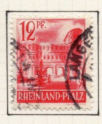Germany Allied Occ France Zone 1948 Rhineland Issue Fine Used 12pf. 258886