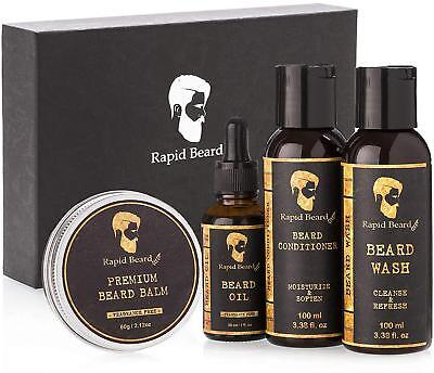 Beard Grooming kit for Men Care - Unscented Oil, Shampoo Wash, Conditioner