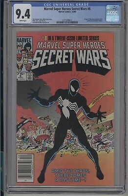 Marvel Super Heroes Secret Wars#8 CGC 9.4 NM Spider-Man origin Venom suit 1984