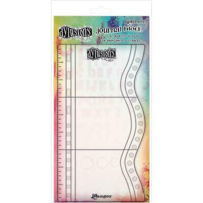Dylusions Journal Block Small Acrylic Block for Unmounted Stamps 5 x 9