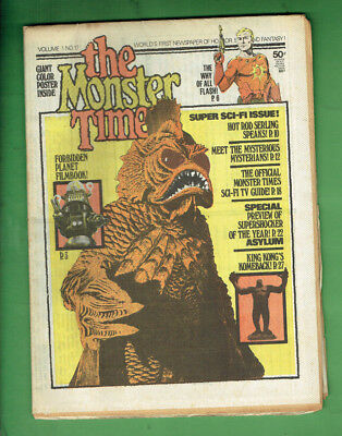 #t93. 1972 The Monsters Times  Newspaper Vol. 1 No. 17 - Forbidden Planet Poster