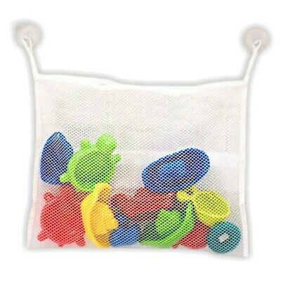 Bath Tub Toy Organizer with 2 Bonus Strong Hooked Suction Cups